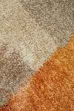 Load image into Gallery viewer, Prism Haley Textured Rust Grey Multi Coloured Rug