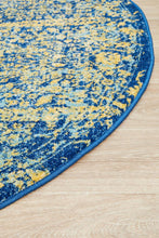 Load image into Gallery viewer, Radiance 411 Royal Blue Round Rug