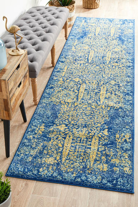 Radiance 411 Royal Blue Runner Rug