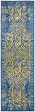 Load image into Gallery viewer, Radiance 411 Royal Blue Runner Rug