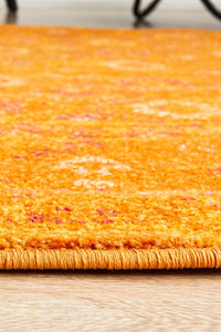 Radiance 444 Burnt Orange Round Rug