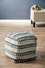 Load image into Gallery viewer, Rug Culture Home 515 Blue Ottoman