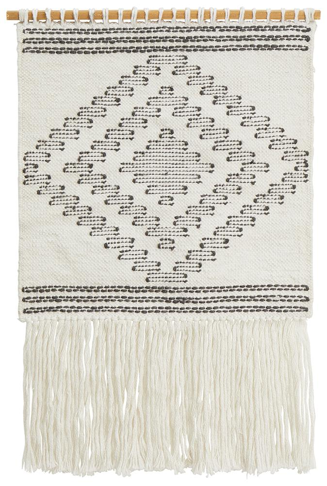 Rug Culture Home 426 White Wall Hanging