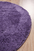 Load image into Gallery viewer, Soho Round Shag Rug Purple