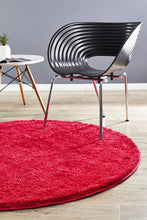 Load image into Gallery viewer, Soho Round Shag Rug Pink