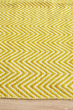Load image into Gallery viewer, Spirit Chevron Yellow Rug