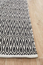 Load image into Gallery viewer, Spirit Austin Textured Modern Rug Black White