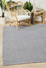 Load image into Gallery viewer, Spirit Carter Textured Modern Rug Navy