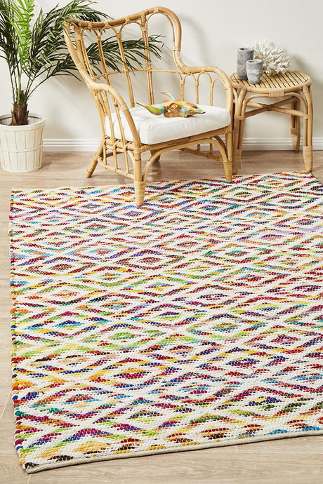 Spirit Owen Diamond Textured Rug Multi