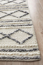 Load image into Gallery viewer, Studio Milly Textured Woollen Rug White Grey