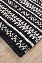 Load image into Gallery viewer, Studio Ester Delicate Lace Woollen Rug Black