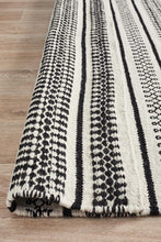 Load image into Gallery viewer, Studio Ester Delicate Lace Woollen Rug Ivory Black