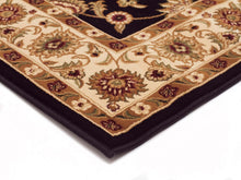 Load image into Gallery viewer, Sydney Classic Runner Black With Ivory Border Runner Rug