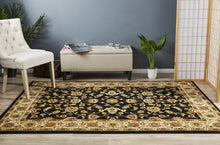 Load image into Gallery viewer, Sydney Collection Classic Rug Black With Ivory Border