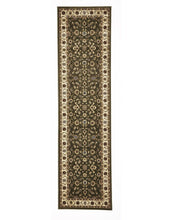 Load image into Gallery viewer, Sydney Classic Runner Green With Ivory Border Runner Rug