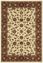 Load image into Gallery viewer, Sydney Collection Classic Rug Ivory With Red Border