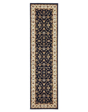 Load image into Gallery viewer, Sydney Classic Runner Blue With Ivory Border Runner Rug