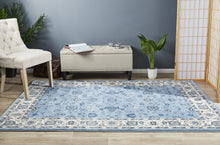 Load image into Gallery viewer, Sydney Collection Classic Rug Sky Blue Border