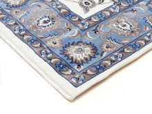 Load image into Gallery viewer, Sydney Classic Runner White With Blue Border Runner Rug