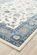 Load image into Gallery viewer, Sydney Collection Classic Rug White With Blue Border