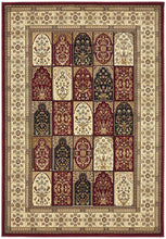 Load image into Gallery viewer, Sydney Collection Traditional Panel Pattern Rug Burgundy