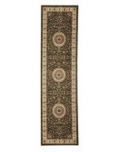 Load image into Gallery viewer, Sydney Medallion Runner Green With Ivory Border Runner Rug