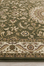 Load image into Gallery viewer, Sydney Collection Medallion Rug Green With Ivory Border