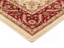 Load image into Gallery viewer, Sydney Medallion Runner Ivory With Red Border Runner Rug