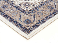 Load image into Gallery viewer, Sydney Medallion Runner White With Beige Border Runner Rug