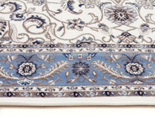Load image into Gallery viewer, Sydney Medallion Runner White With Blue Border Runner Rug