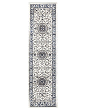 Load image into Gallery viewer, Sydney Medallion Runner White With White Border Runner Rug