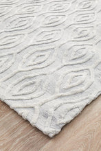 Load image into Gallery viewer, Visions Winter Wish White Modern Rug