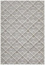 Load image into Gallery viewer, Visions Winter Silver Stream Modern Rug