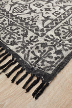 Load image into Gallery viewer, Zulu Totemic Clan Black Rug