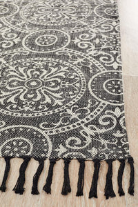 Zulu Totemic Dynasty Black Rug