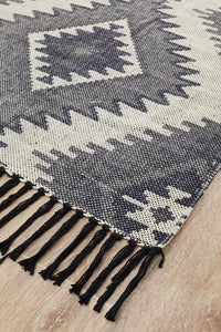 Zulu Totemic Seed Black Rug