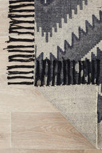 Load image into Gallery viewer, Zulu Totemic Seed Black Rug