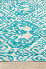 Load image into Gallery viewer, Zulu Totemic Parade Turquoise Rug