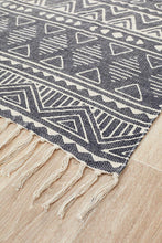 Load image into Gallery viewer, Zulu Totemic Throng Black Rug