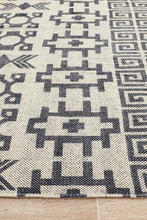 Load image into Gallery viewer, Zulu Totemic Flock Black Rug