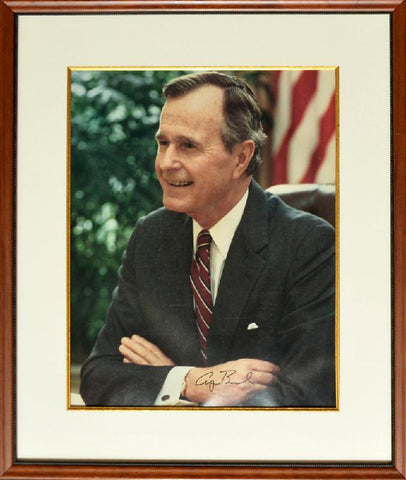 George Bush SR. 16 x20 signed photo