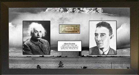 Albert Einstein & Robert Oppenheimer Signature Cut