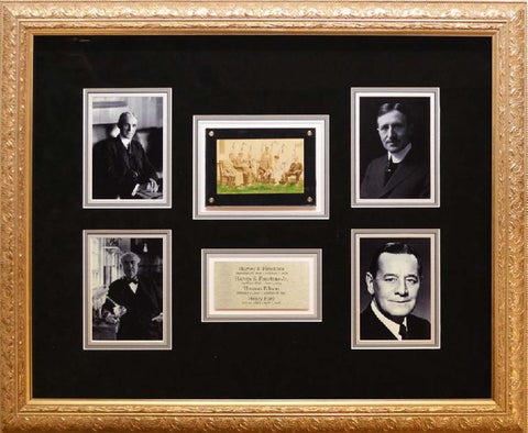 Harvey Firestone, Thomas Edison, Henry Ford, Harvey Firestone Jr. 4x6 Photo