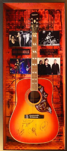 Goo Goo Dolls stage used Acoustic Guitar  & Signed