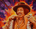 Jimi Hendrix Peace Canvas