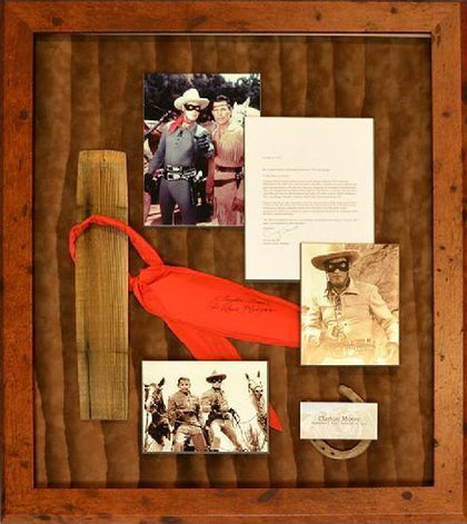 Clayton Moore The Lone Ranger Vintage Red Neckerchief