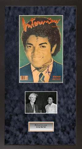 Andy Warhol and Michael Jackson Interview Magazine