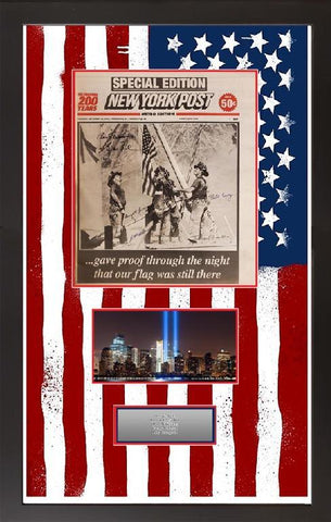 9/11 New York Post Raising the Flag