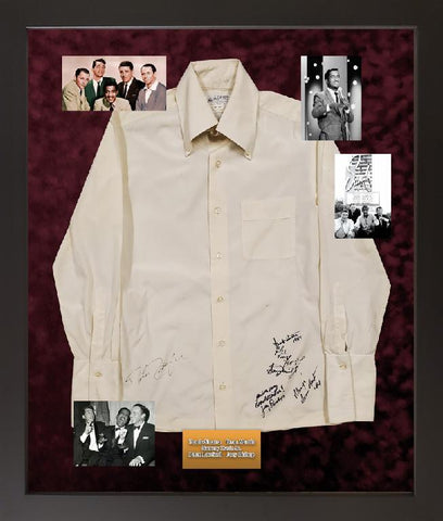 Sammy Davis Jr. Owned Shirt signed by the Rat Pack