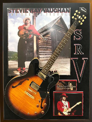 Stevie Ray Vaughan Poster with Guitar